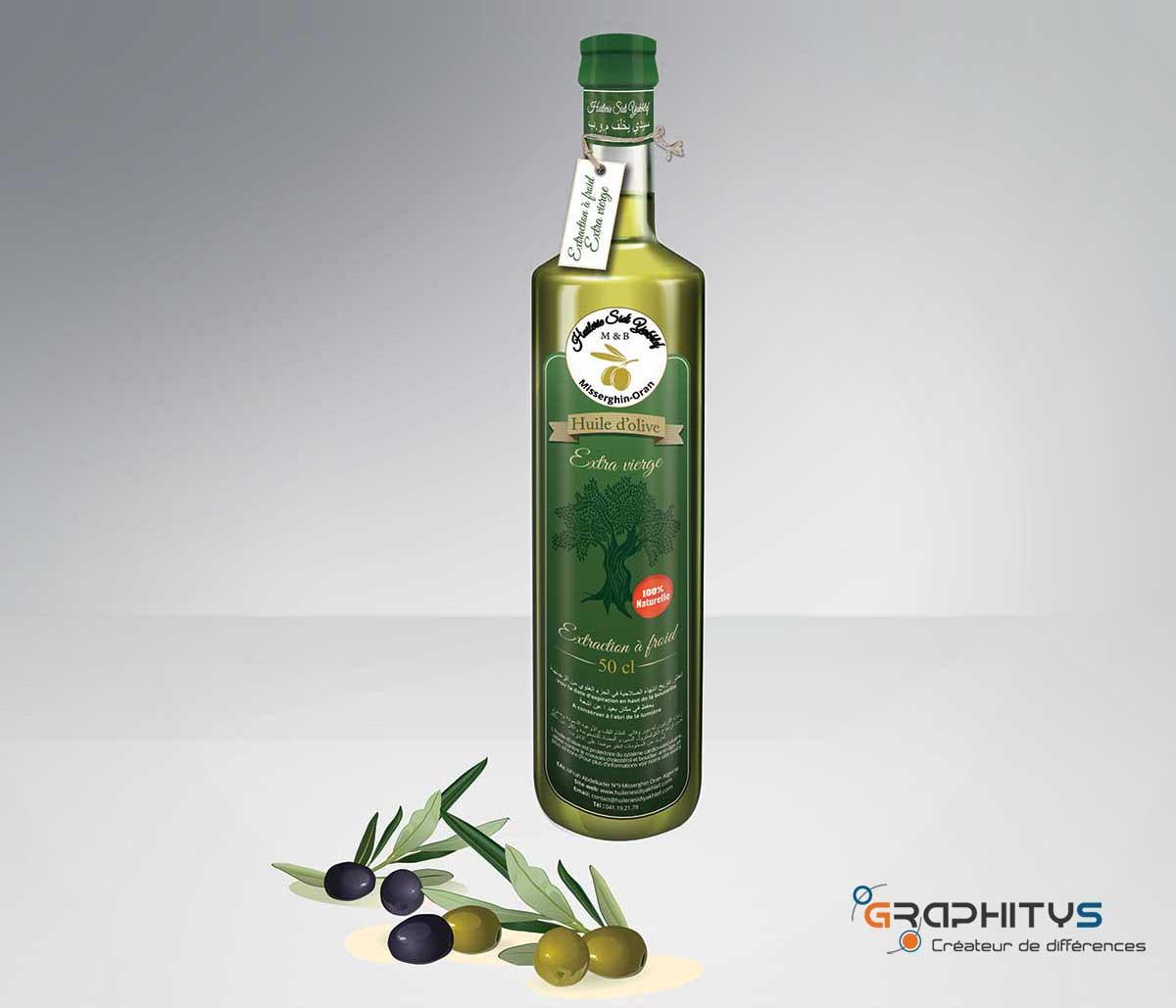 Bouteille d'huile d'olive Huilerie sidi yakhlef